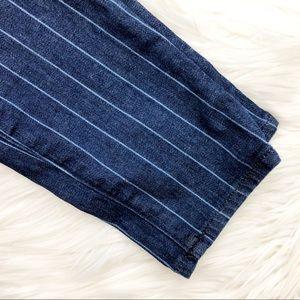 LOFT Jeans - Dark Wash Pinstripe Skinny Jeans